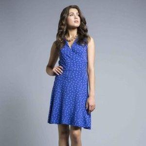 Leota Anchor Blue Dress Medium